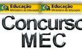 Concurso MEC 2022