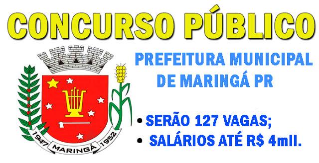Edital Concurso Prefeitura de Maringá Disponível